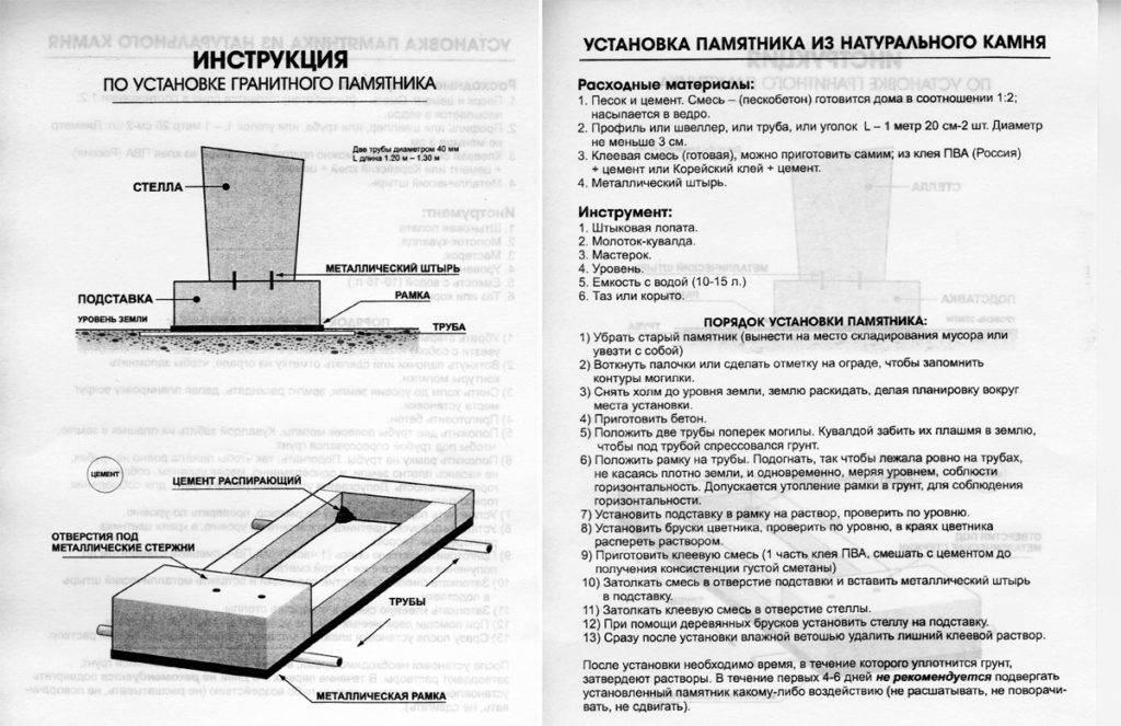 Продажа и установка памятников на могилу